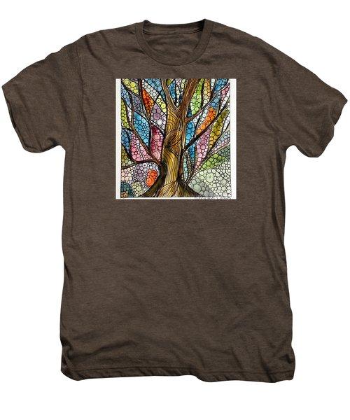 My Happy Watercolor Tree Men's Premium T-Shirt