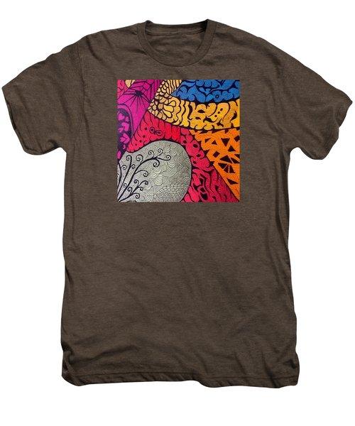 Nice Colors In A Doodling Designs I Men's Premium T-Shirt