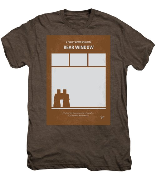 No238 My Rear Window Minimal Movie Poster Men's Premium T-Shirt by Chungkong Art