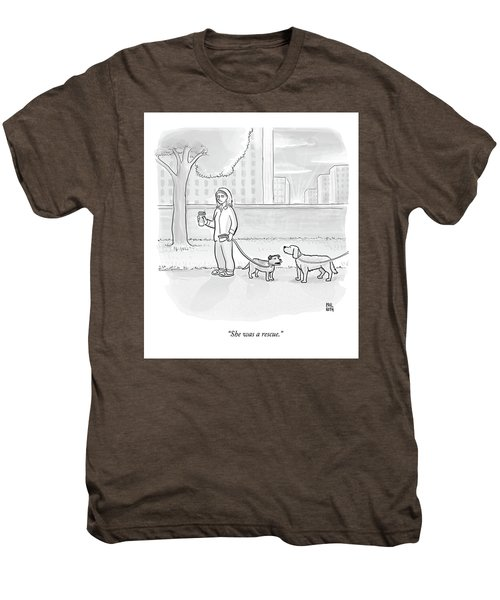 One Dog Talks To Another Men's Premium T-Shirt