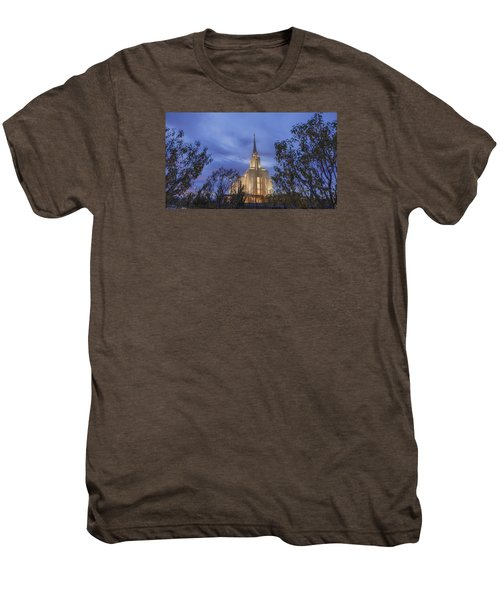 Oquirrh Mountain Temple II Men's Premium T-Shirt