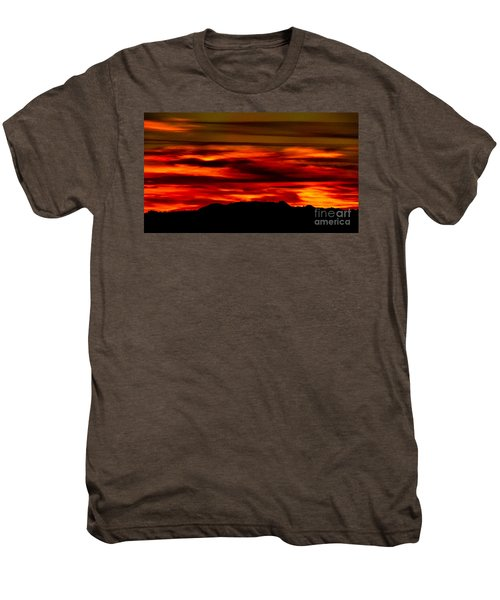 Men's Premium T-Shirt featuring the photograph Painted Sky 34 by Mark Myhaver