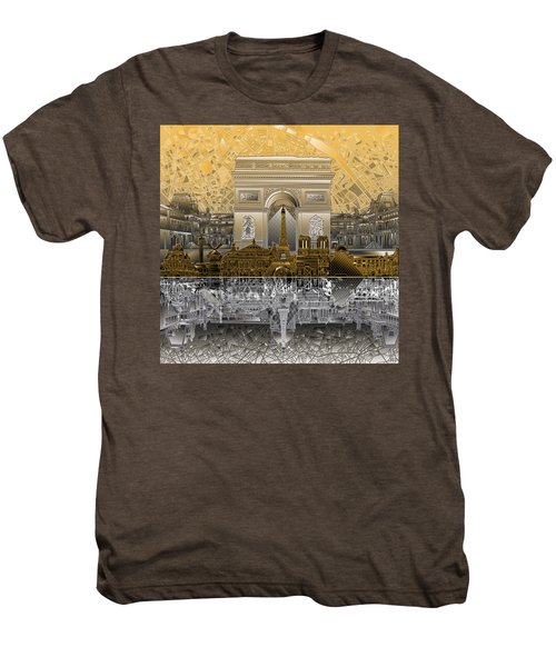Paris Skyline Landmarks 5 Men's Premium T-Shirt