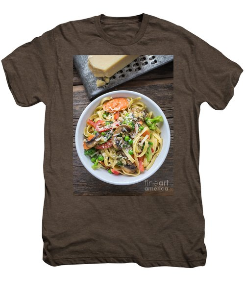 Pasta Primavera Dish Men's Premium T-Shirt by Edward Fielding