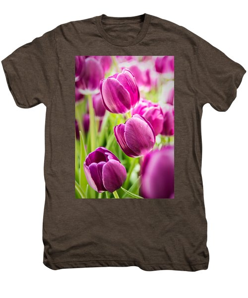 Purple Tulip Garden Men's Premium T-Shirt