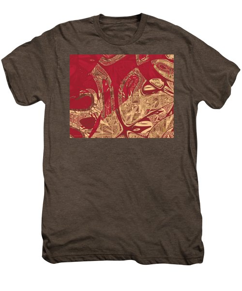 Red Geranium Abstract Men's Premium T-Shirt