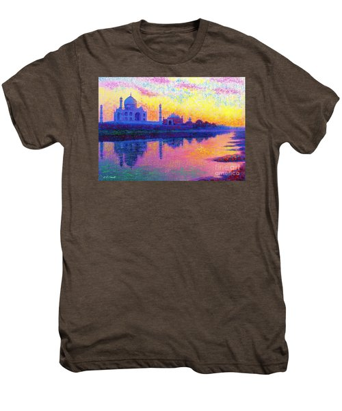 Taj Mahal, Reflections Of India Men's Premium T-Shirt