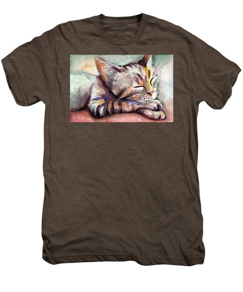 Sleeping Kitten Men's Premium T-Shirt
