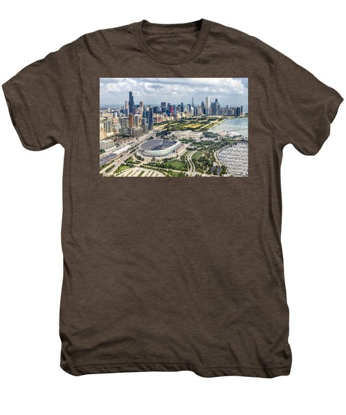 Soldier Field And Chicago Skyline Men's Premium T-Shirt