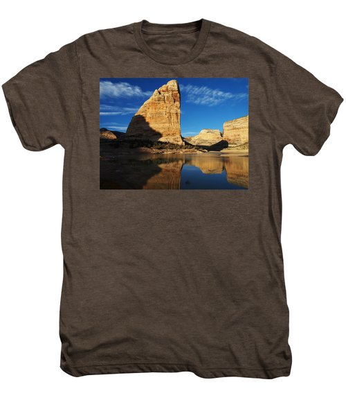 Steamboat Rock In Dinosaur National Monument Men's Premium T-Shirt