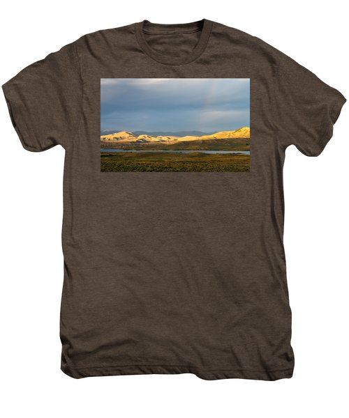 Stormy Sky With Rays Of Sunshine Men's Premium T-Shirt