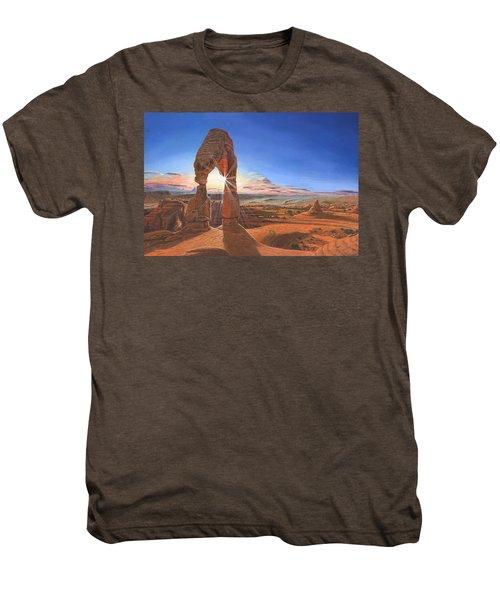 Sunset At Delicate Arch Utah Men's Premium T-Shirt