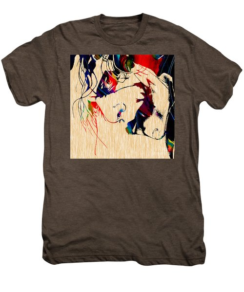 The Joker Heath Ledger Collection Men's Premium T-Shirt by Marvin Blaine