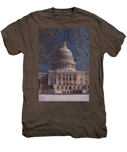 United States Capitol Men's Premium T-Shirt by Skip Willits