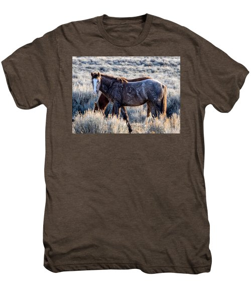 Velvet - Young Colt In Sand Wash Basin Men's Premium T-Shirt