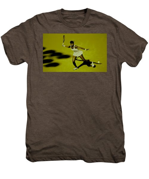 Venus Williams In Action Men's Premium T-Shirt by Brian Reaves