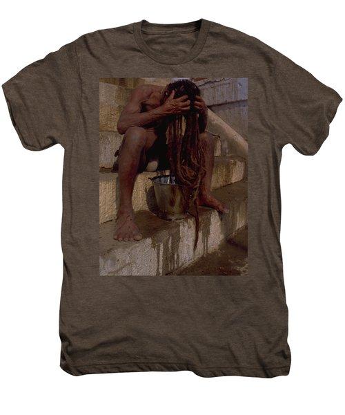Varanasi Hair Wash Men's Premium T-Shirt