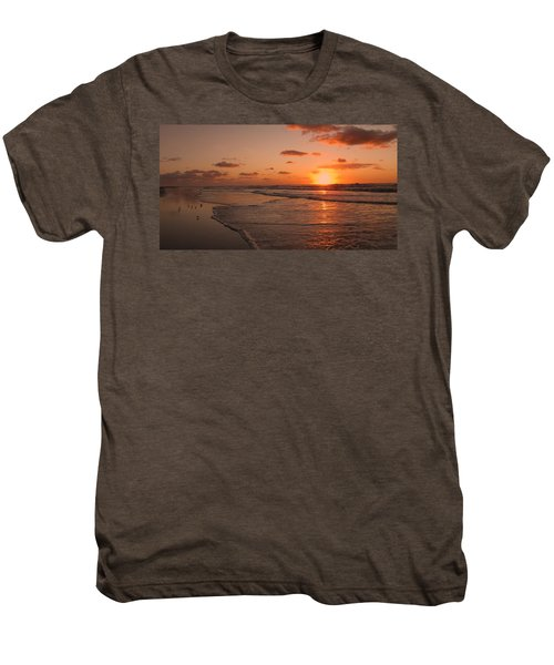 Wildwood Beach Sunrise II Men's Premium T-Shirt by David Dehner