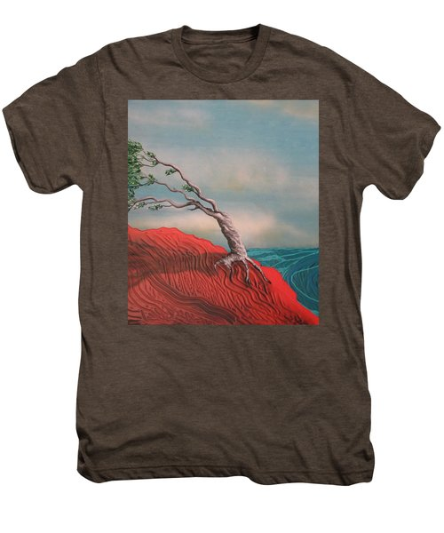 Wind Swept Tree Men's Premium T-Shirt