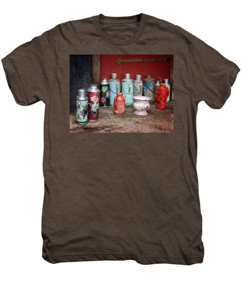 Yak Butter Thermoses Men's Premium T-Shirt by Joan Carroll