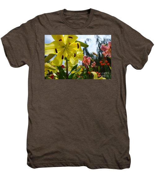 Yellow Whopper Lily 1 Men's Premium T-Shirt by Jacqueline Athmann