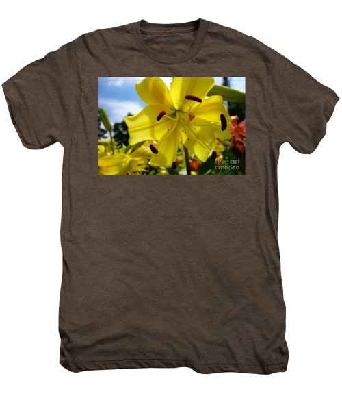 Yellow Whopper Lily 2 Men's Premium T-Shirt by Jacqueline Athmann