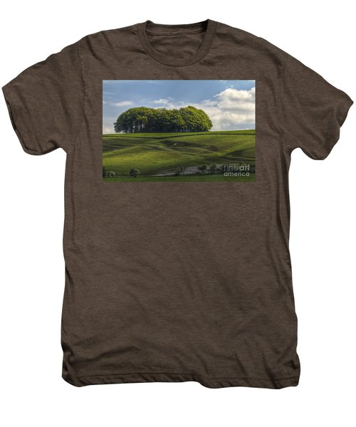 Men's Premium T-Shirt featuring the photograph Hackpen Hill by Clare Bambers