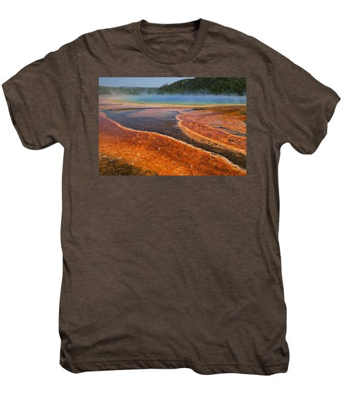 Middle Hot Springs Yellowstone Men's Premium T-Shirt