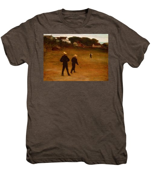 The Ball Players Men's Premium T-Shirt by William Morris Hunt