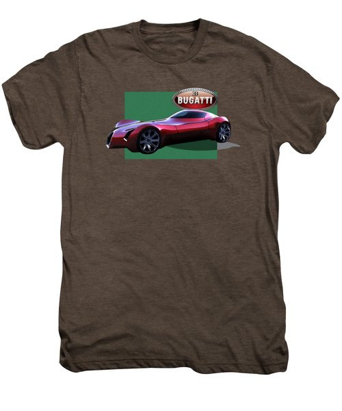 2025 Bugatti Aerolithe Concept With 3 D Badge  Men's Premium T-Shirt