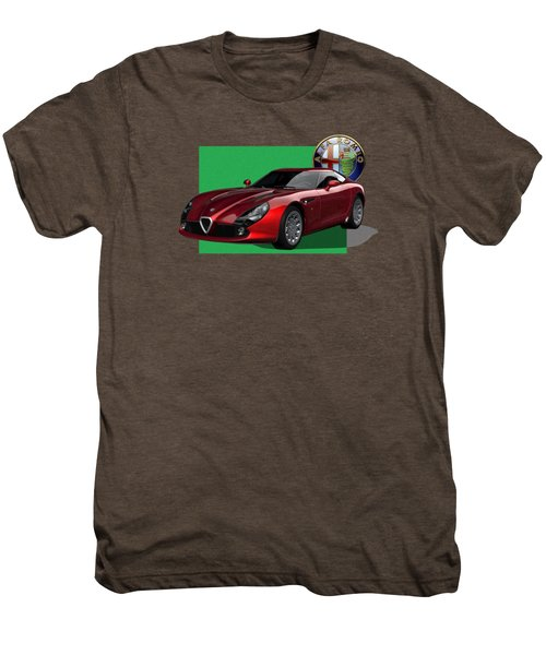 Alfa Romeo Zagato  T Z 3  Stradale With 3 D Badge  Men's Premium T-Shirt