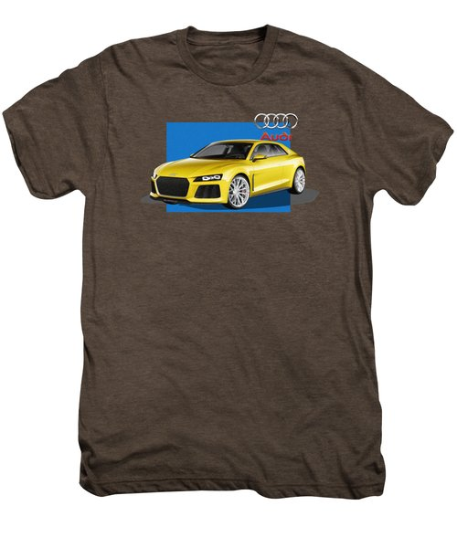 Audi Sport Quattro Concept With 3 D Badge  Men's Premium T-Shirt