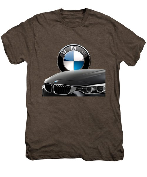 Black B M W - Front Grill Ornament And 3 D Badge On Red Men's Premium T-Shirt