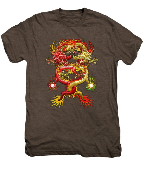Brotherhood Of The Snake - The Red And The Yellow Dragons Men's Premium T-Shirt