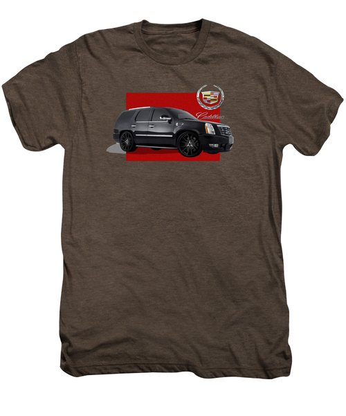 Cadillac Escalade With 3 D Badge  Men's Premium T-Shirt