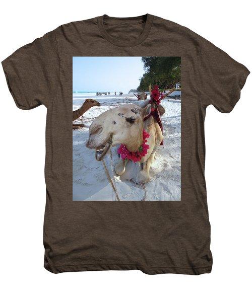 Camel On Beach Kenya Wedding3 Men's Premium T-Shirt