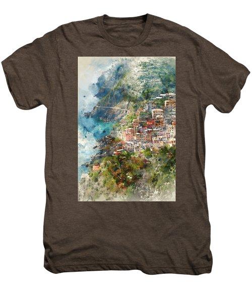 Cinque Terre In Italy Men's Premium T-Shirt