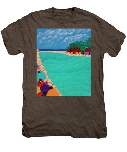 Curacao Lagoon Men's Premium T-Shirt