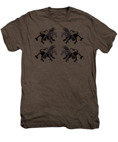 Dragon Cutout Men's Premium T-Shirt by Vladi Alon