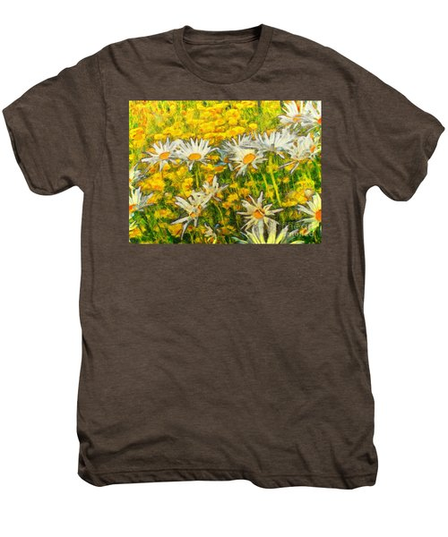 Field Of Daisies Men's Premium T-Shirt