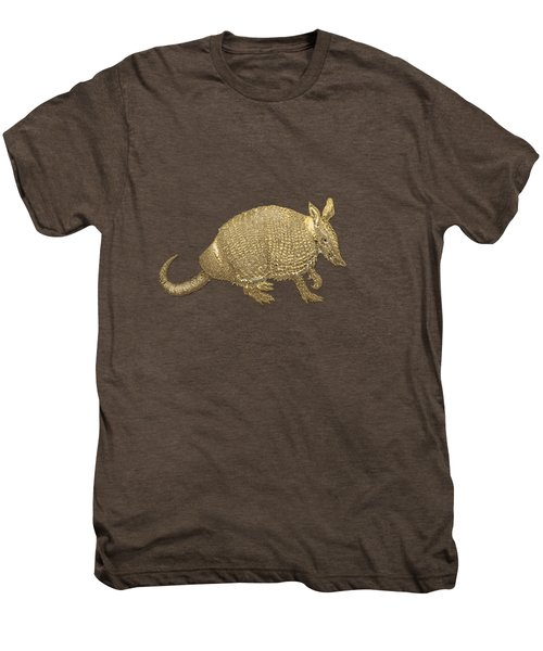 Gold Armadillo On Black Canvas Men's Premium T-Shirt