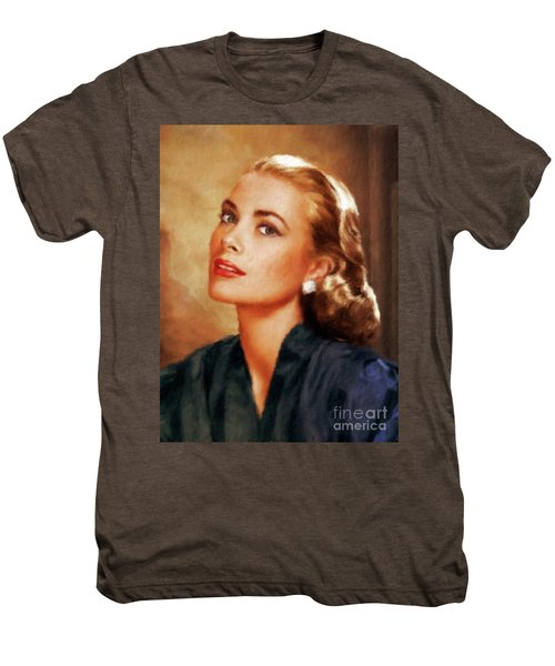 Grace Kelly, Actress And Princess Men's Premium T-Shirt by Mary Bassett