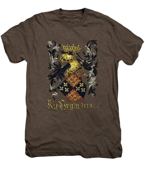 King Of England Coat Of Arms - Livro Do Armeiro-mor Men's Premium T-Shirt