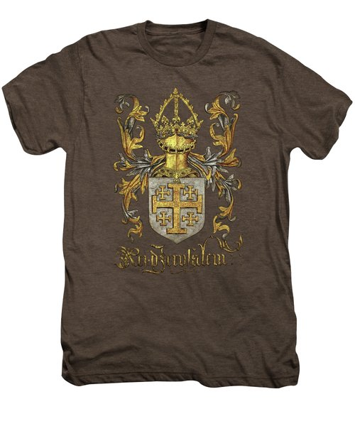 Kingdom Of Jerusalem Coat Of Arms - Livro Do Armeiro-mor Men's Premium T-Shirt