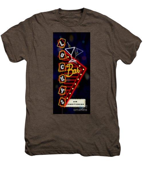 Nightclub Sign Luckys Bar Men's Premium T-Shirt