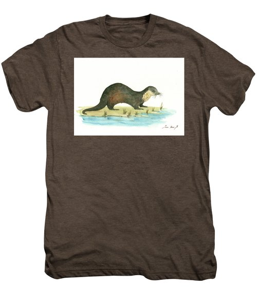 Otter Men's Premium T-Shirt by Juan Bosco