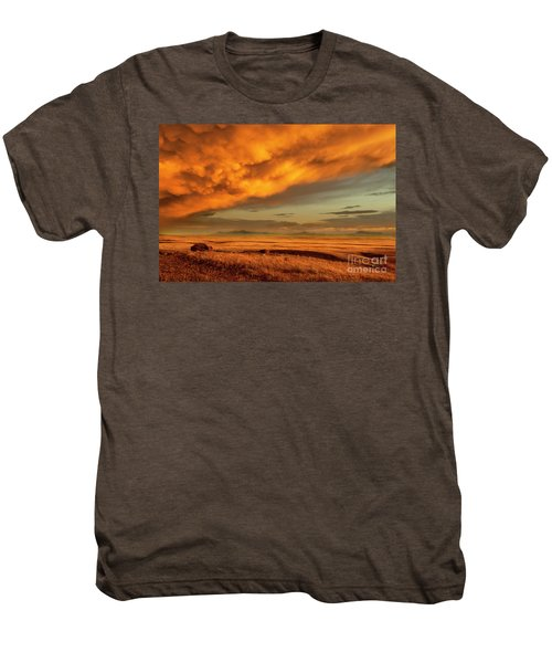 Red Rock Coulee Sunset 1 Men's Premium T-Shirt