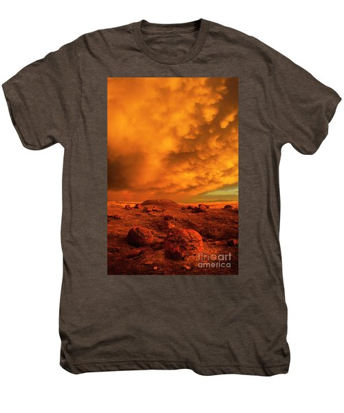 Red Rock Coulee Sunset 2 Men's Premium T-Shirt