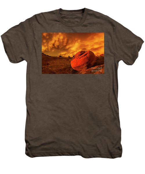 Red Rock Coulee Sunset 3 Men's Premium T-Shirt