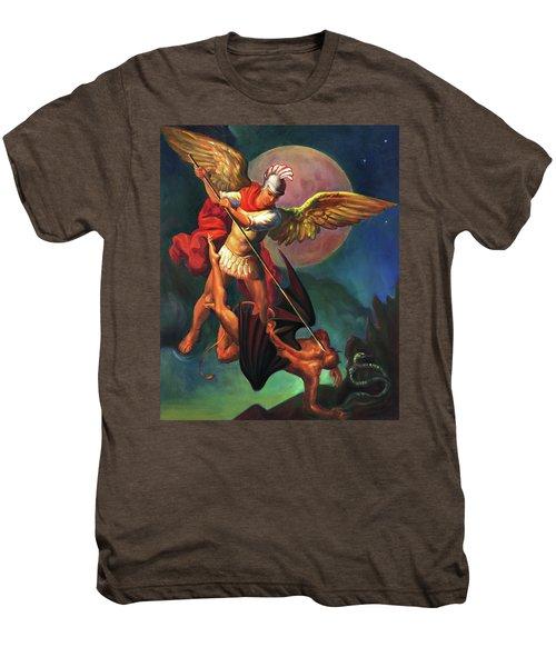 Saint Michael The Warrior Archangel Men's Premium T-Shirt